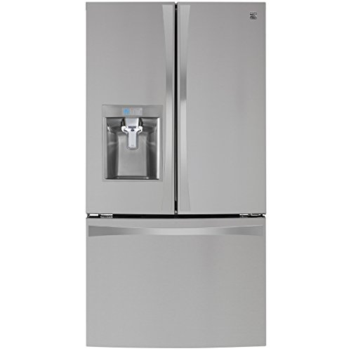 Price comparison product image Kenmore Elite 4674025 29.8 cu. Ft. French Door Bottom-Freezer Refrigerator in Stainless Steel with Active Finish,  includes delivery and hookup