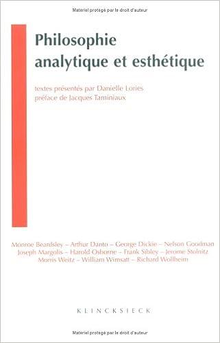 Lire Philosophie analytique et esthétique pdf