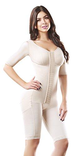 Shape Concept  Fajas Colombianas Reductoras y Moldeadoras High Compression Garments After Liposuction Full Bodysuit SCM0072 (Beige, XX-Large) (Best Compression Garment After Liposuction)