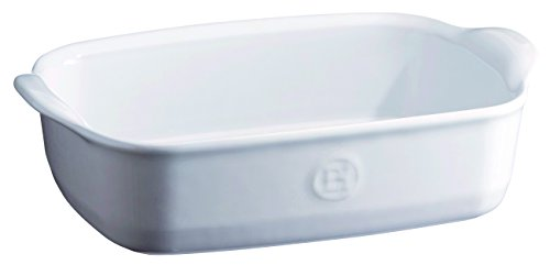 Emile Henry 119649 France Ovenware Ultime Rectangular Baking Dish, 8.7 x 5, Flour White