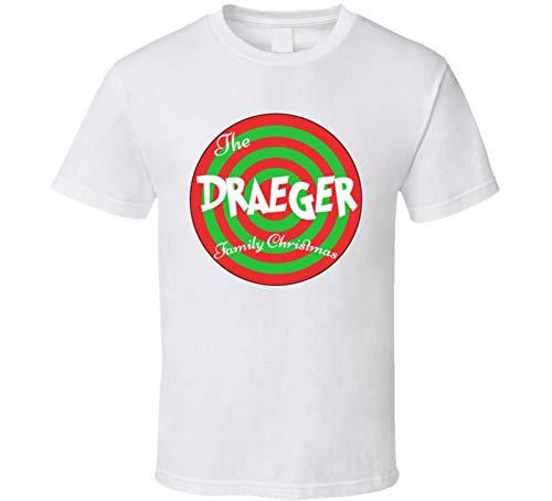 The Draeger Family Christmas Last Name T Shirt L White