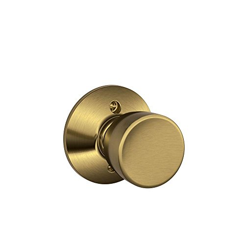 Bell Knob Non-Turning Lock, Antique Brass (F170 BEL - Bel 609 Bell