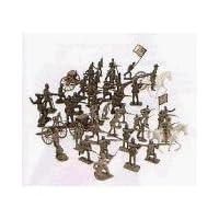 54mm Gettysburg Union /Confederate Figure Playset (50 piezas) (en bolsas) (Americana) 1/32 Playsets