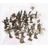 War Figure Plastic (54mm Gettysburg Union/Confederate Figure Playset (50pcs) (Bagged) (Americana) 1/32 Playsets)