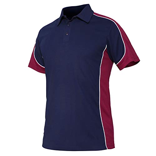 Leisure Suit Shirt - CRYSULLY Men Leisure Short Sleeve Button Polo Shirts Performance Training Top Blouse Wine Red