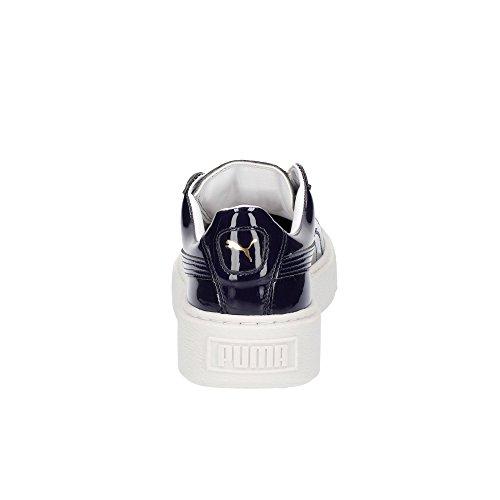 Puma Basket Platform Patent Womens, peacoat-peacoat Purple