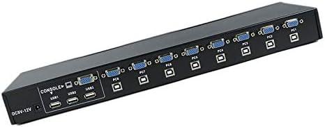 Functy 8 Puertos USB 2.0 Externo KVM Switch Box Manual Switcher ...