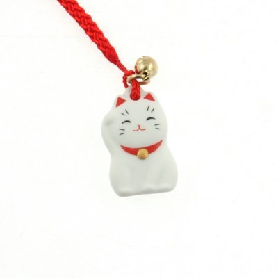 Japanese Netsuke Lucky Charm Maneki-neko, Fortune Cat by Yakushido