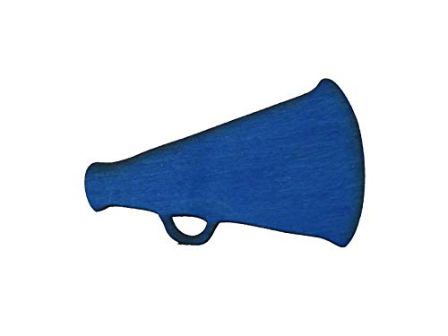 Wicked Good Decor Magnetic Wooden Accent - Cheer Megaphone - Refrigerator Magnet, WGD Sign Accent ()