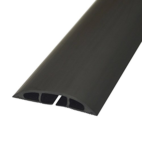 -[ Chargeline® Black Cable Protector/ Floor Cable Cover. Floor Cable Tidy 1m,2m,3m,4m,5m,6m,7m,