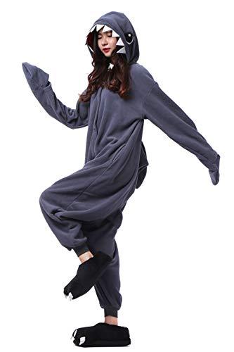 Pigiama Pigiama Unisex Squalo Animali Nero Onesies Costume Cosplay Intero pRtw76wxqv