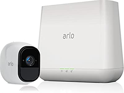 NETGEAR Arlo Pro Security System with Siren – 1 Rechargeable Wire-Free HD Camera with Audio | Indoor/Outdoor | Night Vision