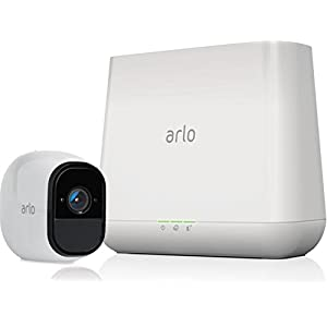 Arlo Pro by NETGEAR Security System with Siren - 1 Rechargeable Wire-Free HD Camera with Audio, Indoor/Outdoor, Night Vision (VMS4130), Works with Alexa