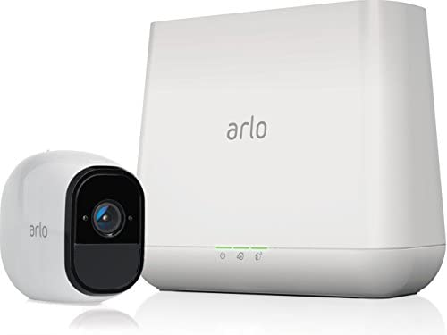 Arlo Pro - Wireless Home Security Camera System with Siren | Rechargeable,  Night vision, Indoor/Outdoor, HD Video, 2-Way Audio, Wall Mount | Cloud