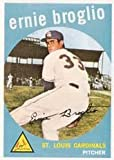1959 Topps Regular (Baseball) Card# 296 ernie broglio of the St. Louis Cardinals VGX Condition