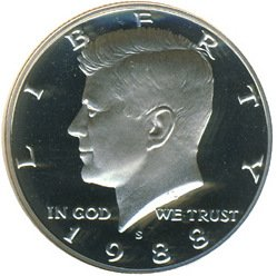 - 1988 S Kennedy Half Dollar Proof Deep Cameo DCAM Gem US Coin .50