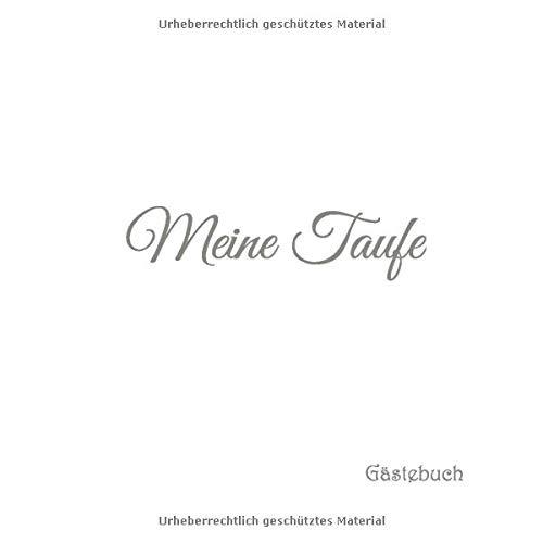Meine Taufe Gästebuch Gästebuch Für Taufe Baby