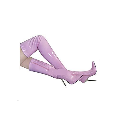 ZHZNVX Damenschuhe PU Winter Fashion Stiefel Stiletto Stiletto Stiletto Heel Spitz Overknee Stiefel Rot Blau   Rosa 3f2745