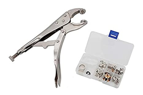 YZS Heavy-Duty Snap Pliers Fastener Tool Kit Snap Installation Set Hand  Tools for Fastening, Replacing Metal Snaps, Repairing Boat Covers, Canvas,