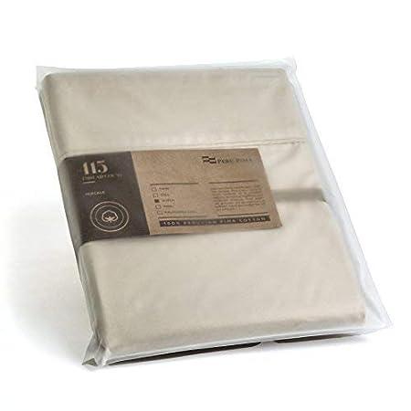 King White CO023136 Peru Pima Set of 2 Pillow Cases 415 Thread Count Percale 100/% Peruvian Pima Cotton