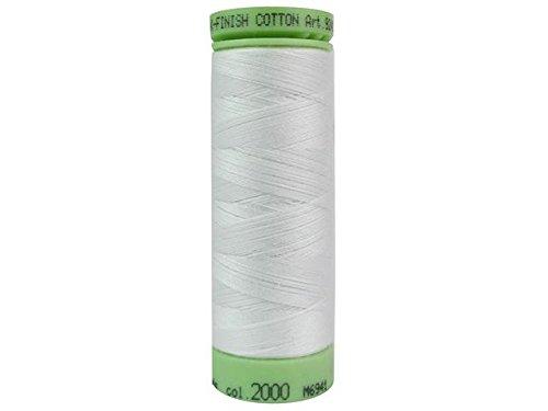 Mettler Fine Embroidery Thread - Mettler Silk-Finish Solid Cotton Thread, 220 yd/200m, White