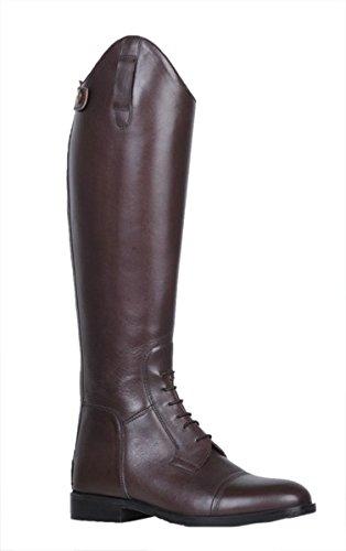 HKM–Botas de equitación Spain Soft Piel largo/alcance estrechas Marrón - marrón