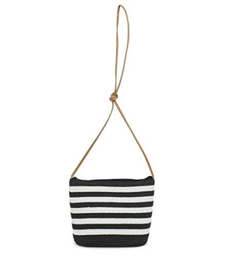 magid-paper-straw-simple-stripe-cross-body-bagblack-whiteone-size
