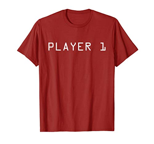 Player 1 shirt for couples, twins or -