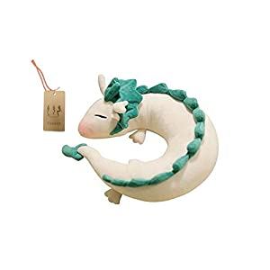 evalent anime cute white dragon doll plush toy japanese animation pillow neck u-shape white - 31B9bLnfhJL - Evalent Anime Cute White Dragon Doll Plush Toy Japanese Animation Pillow Neck U-Shape White