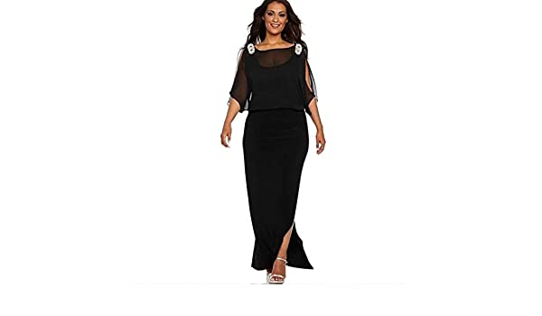 Dress for Women Solid Color Long Sleeve Slit Off Shoulder Maxi Girl Split  Side Dresses at Amazon Women s Clothing store  e126c21e0