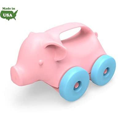Green Toys My First Green Toys Pig Animal-on-Wheels, Pink 6+ months: Health & Personal Care
