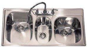 Kindred T2243 95k 4e Kitchen Sink 3 Bowl