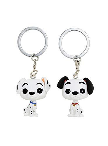 (Funko Disney 101 Dalmatians Pocket Pop! Pongo & Perdita Vinyl Key Chain Set)