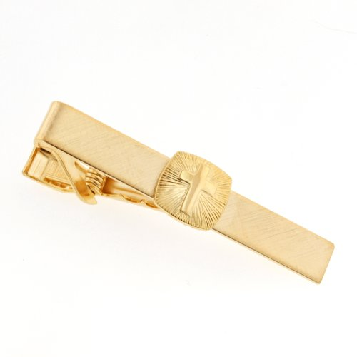 JJ Weston Religious Cross Tie Clip. Made in the USA.