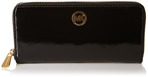 Michael Kors Fulton Ziparound Continental Patent Leather Wallet - Black by Michael Kors