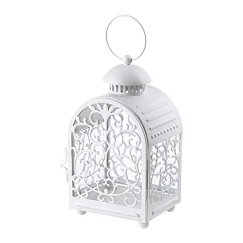"""IKEA Gottgora Lantern for Candle in Metal Cup Indoor Outdoor White 103.414.71 Size 10"""""""