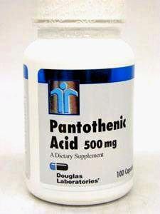 Douglas Labs acide pantothénique 500 mg 100 gélules
