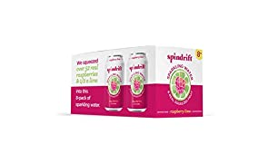 Spindrift Raspberry Lime Sparkling Water, 12 Fl. Oz. Cans (Pack of 8)