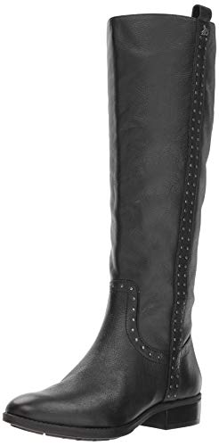Sam Edelman Women's Prina Knee High Boot, Black Leather, 8.5 M US