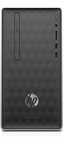 HP Pavilion Desktop PC – (Ash Silver) (Intel Celeron J4005 Processor, 4 GB RAM, 1 TB HDD, Intel UHD Graphics 600…