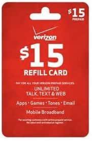 Amazon.com: Verizon $15 Prepaid Refill PIN Monthly Plan ...