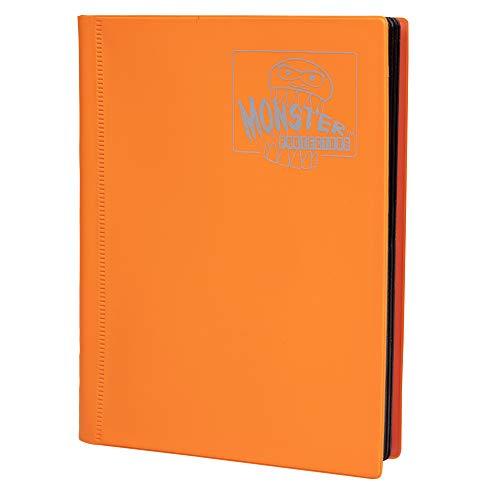 Monster Binder - 4 Pocket Trading Card Album - Matte Orange (Anti-theft Pockets Hold 160+ Yugioh, Pokemon, Magic the Gathering Cards)