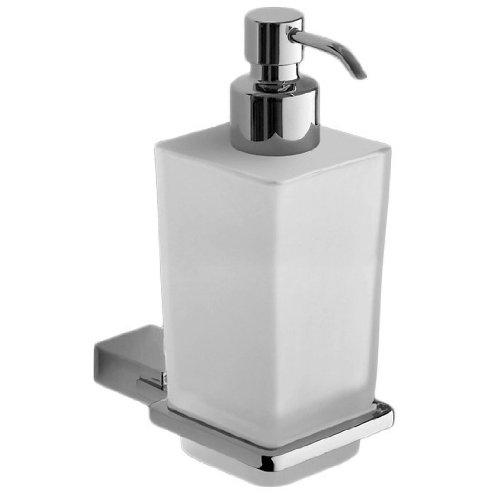 - Gedy 3881-13 Kansas Wall Mounted Matte Glass Soap Dispenser, 1.26