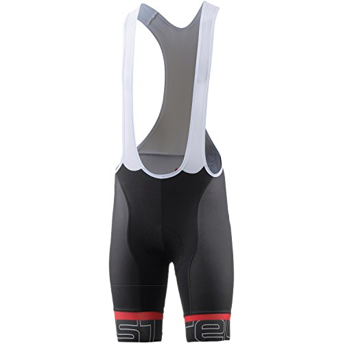 Castelli Volo Bib Short - Men's Black/White, L