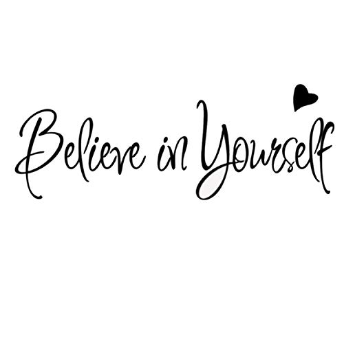 Beliver in Yourself Sayings Wall Stickers Wall Decal DIY Plants Mural Vinyl Removable Art Wall Decals Decorations Nursery Bedroom Kids Room Decor -