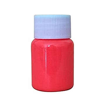 Luminous Paint - SODIAL(R) 2 x 30G Glow in the Dark Acrylic Luminous Paint Bright Pigment Graffiti Party, Sky blue + Orange red