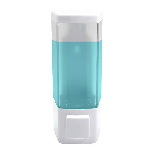 AILELAN Shampoo Dispenser, 1-Chamber Shower Soap Dispenser, Wall Mounted Shampoo and Conditioner Dispenser, 16.9 Ounces/Chamber, White