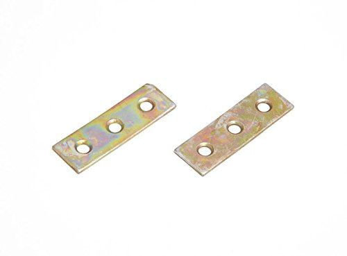 MENDING REPAIR CONNECTING PLATES 50MM ZINC PLATED YZP STEEL PACK OF 100 ONESTOPDIY