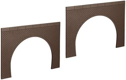 ポポンデッタ ポポプロ ジオラマコレクション 「memory's」 HOゲージ トンネルポータル レンガ 複線 茶色 1/80サイズ MS-102 ジオラマ用品
