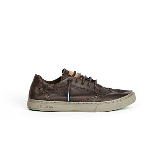 de cordones Piel Satorisan marrón mujer de Zapatos para marrón BcUBxZqp